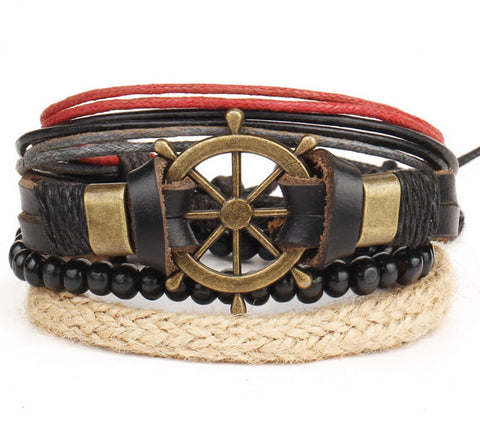 Men Bracelet - Nautica Stacked Bracelet