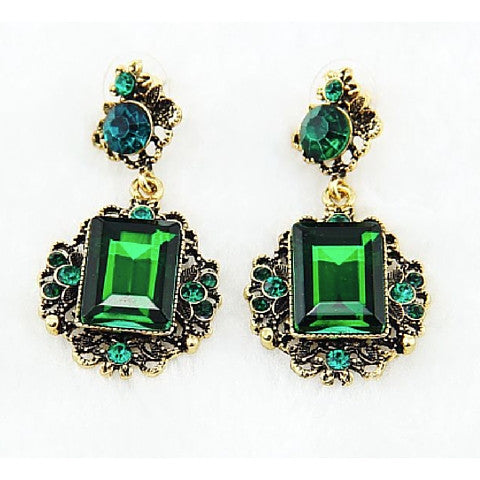 Earrings - Fairy Charm Emerald Earring - 3just3