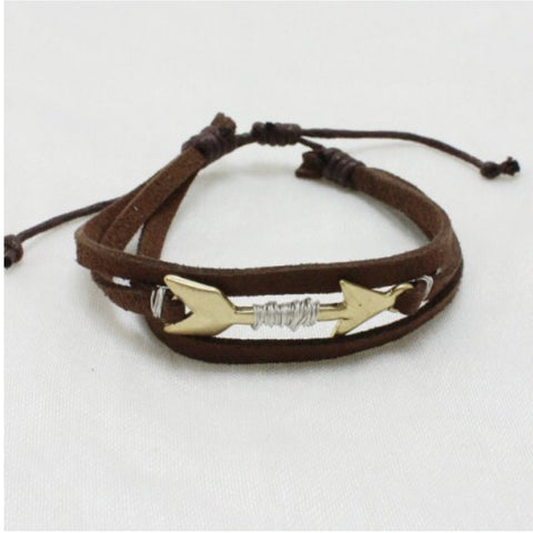 Bracelet - Brown Strand Arrow Bracelet