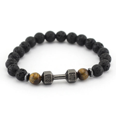 Men Bracelet - Black Beaded Life Fit Bracelet