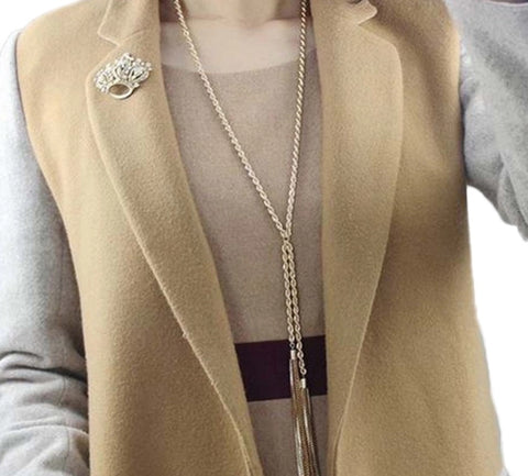 Necklaces - Women Gold Plated Multilayer Tassel