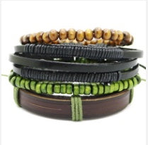 Men Bracelet - Earthy Stacked Bracelet