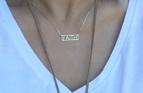 Necklace - Gold Faith Necklace