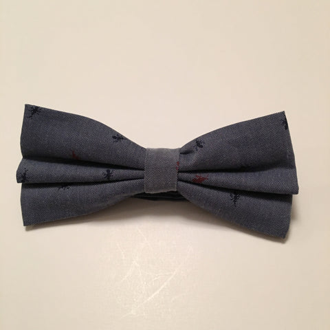 Men Bow Ties - Anchor on Gray - 3just3