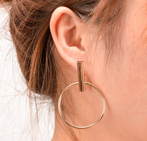 Earrings - Gold Modern Hoop Earrings