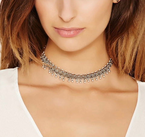 Necklaces - Edge Silver Choker