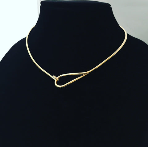 Necklaces - Gold Loop Choker - 3just3