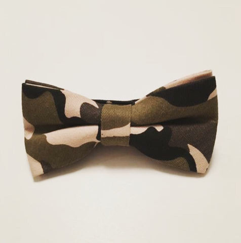 Men Bow Ties - Green Camo