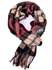 Scarfs - Men's Creme & Red Plaid Scarfs - 3just3