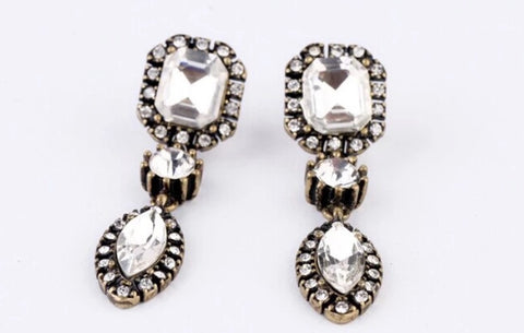 Earrings - Diamond Drop Earrings - 3just3