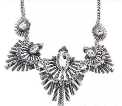 Necklaces - Silver Tammi Statement Necklace