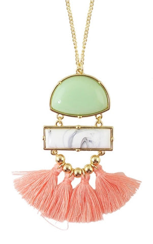 Necklaces - Springy Tassel