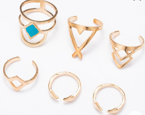 Rings - Boho Ring Set - Silver or Gold