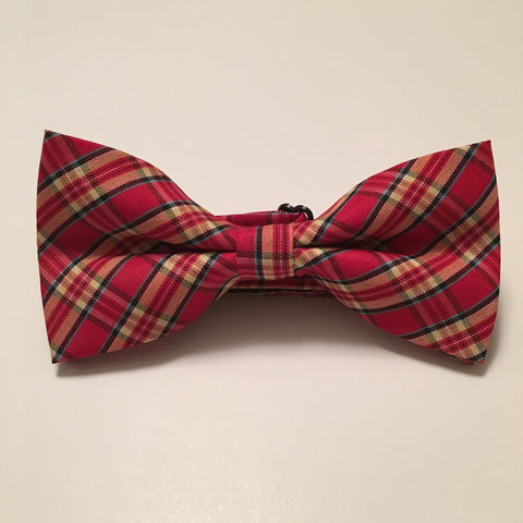 Men Bow Ties - Red Plaid - 3just3