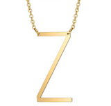 Necklace - Gold Initial Letter Necklace