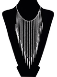 Necklaces - Gold Fringe Bib Necklace - 3just3 - 2