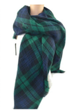 Scarfs - Plaid Blanket Scarfs - Green/Blue Plaid - 3just3 - 1