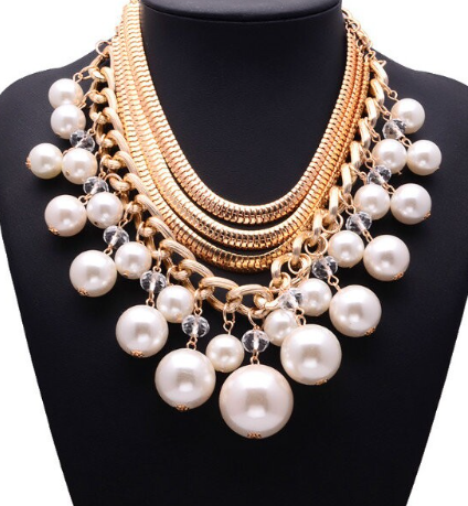 Necklaces - Multi-layer Gold & Pearl Necklace - 3just3 - 1