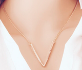 Necklaces -Triangle Gold Plated Necklace - 3just3