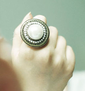Rings - Pearl Ring - 3just3 - 1