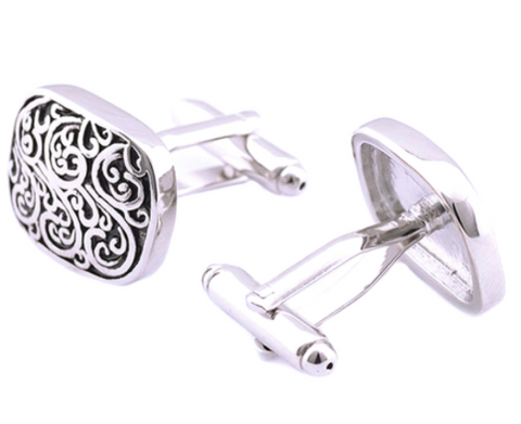 Men Cufflinks - Vintage Pattern Cufflinks - 3just3 - 1