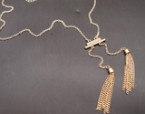 Necklaces - Gold Plated Tassel Necklace - 3just3 - 3