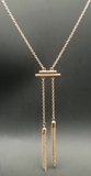 Necklaces - Gold Plated Tassel Necklace - 3just3 - 1