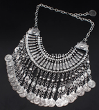 Necklaces - Chandelier Coin Necklace - 3just3 - 2