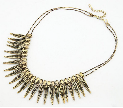 Necklaces - Feather Rivet Necklace - 3just3