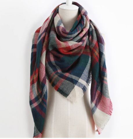 Scarfs - Finn Plaid  Scarf - 3just3