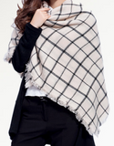 Scarfs - Cream and Black Scarf - 3just3 - 2