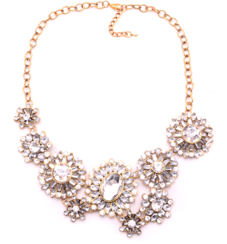Necklaces - Myra Crystal Statement Necklace