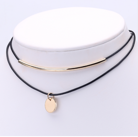 Necklaces - Gold Bar Choker