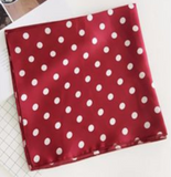 Scarves - Burgundy with White Polka Dot
