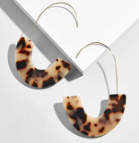 Earrings -  Tortoiseshell Hang Earrings