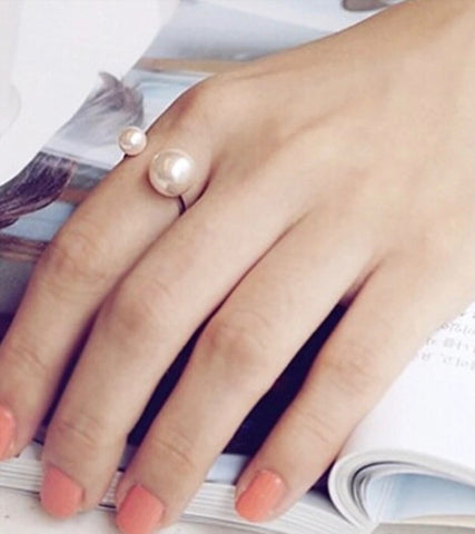 Rings - Double Side Pearl Ring