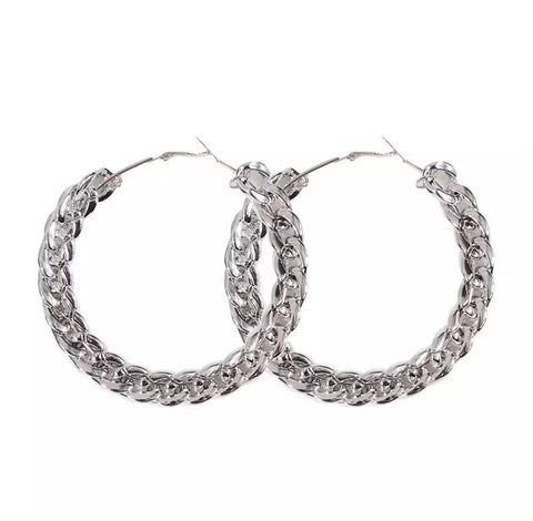 Earrings - Chainy Hoops