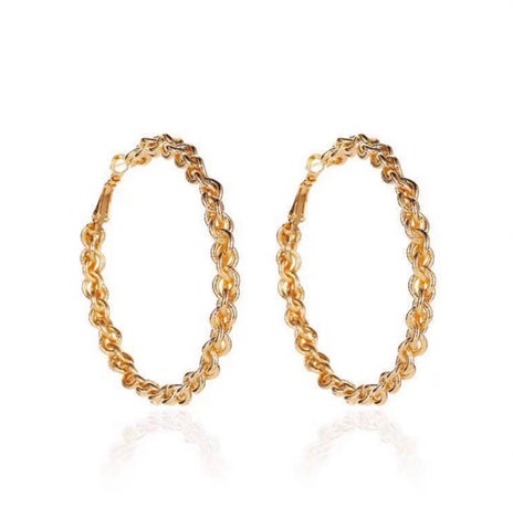 Earrings - Rope Chain Hoops