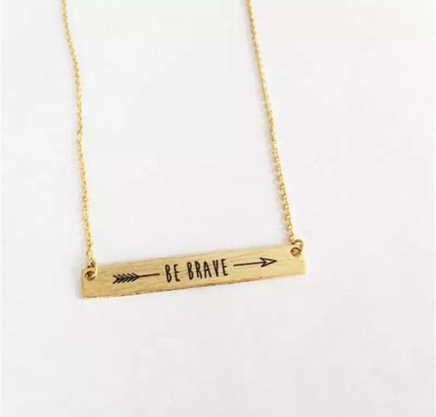 Necklaces -  Gold Be Brave Necklace