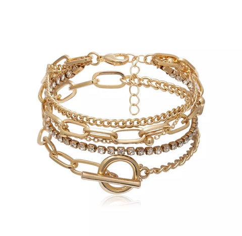 Bracelet - Stacked Links Bracelet Set