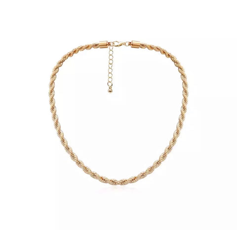 Necklaces - Gold Rope Necklace