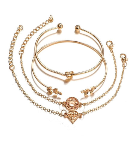 Bracelet - Golden Bracelet Set