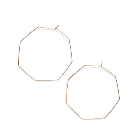 Earrings -  Octagon Hoops