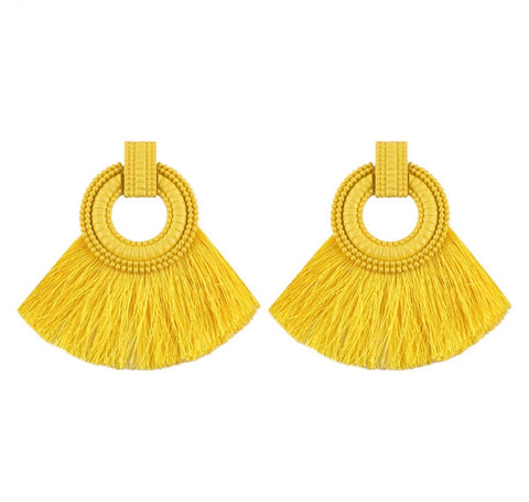 Earrings - Tassel Fan Earnings