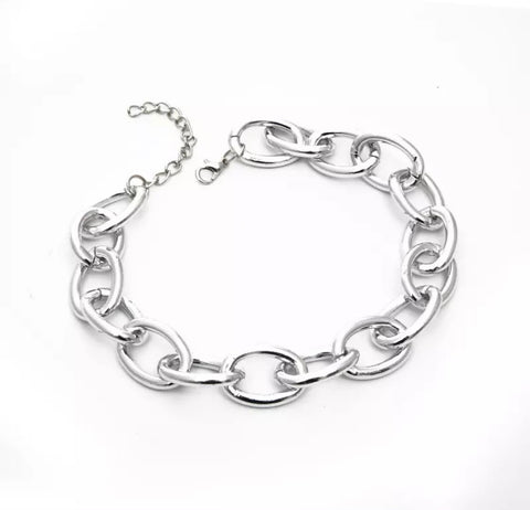 Necklace -  Chunky Silver Necklace