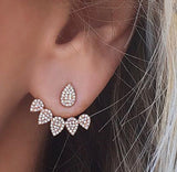 Earrings - Crystal Tear-Drop Stud Earnings