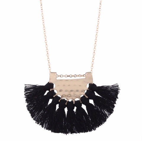 Necklace - Fringe Fan Necklace