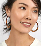 Earrings -  Tortoiseshell Hoops