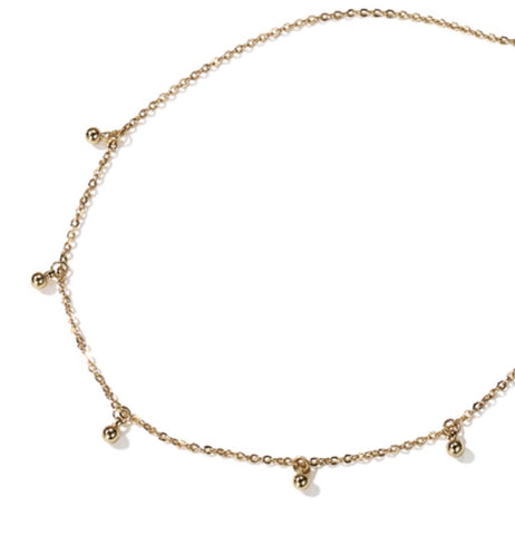 Necklace - Gold Droplet Choker