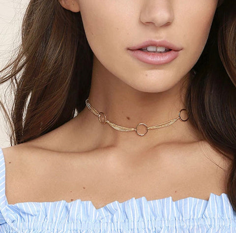 Necklace - Three Ring Choker